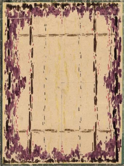 Maquette du tapis tissé par la manufacture Coupé pour le boudoir de Sardou et Madier, Exposition 1925