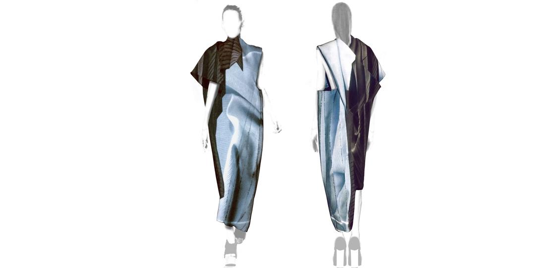 Libramen Forma, Kestner & Vilsbol, Model of a dress made of tapestry