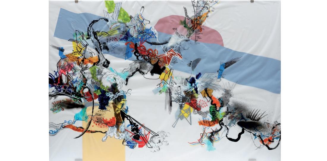 Blink # 0, 2/3, Benjamin Hochart, deuxième prix 2010, huile sur calque
