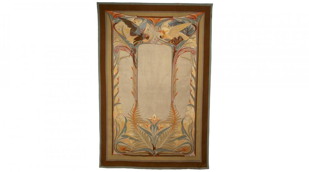 Les Perroquets, Henry de Waroquier, woven by ENAD Aubusson's workshop, 1901-1902