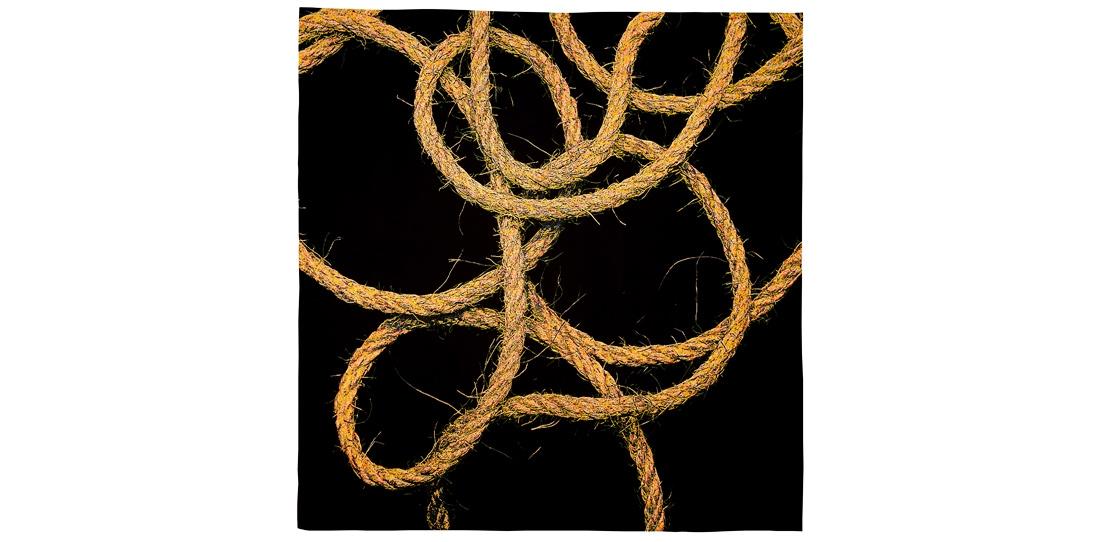 Sans Titre, d'après Mathieu Mercier, 3e prix 2011 de la Cité internationale de la tapisserie, tissage Daniel Bayle et Agnès-Marie Durieux pour l'Atelier Legoueix, 2013
