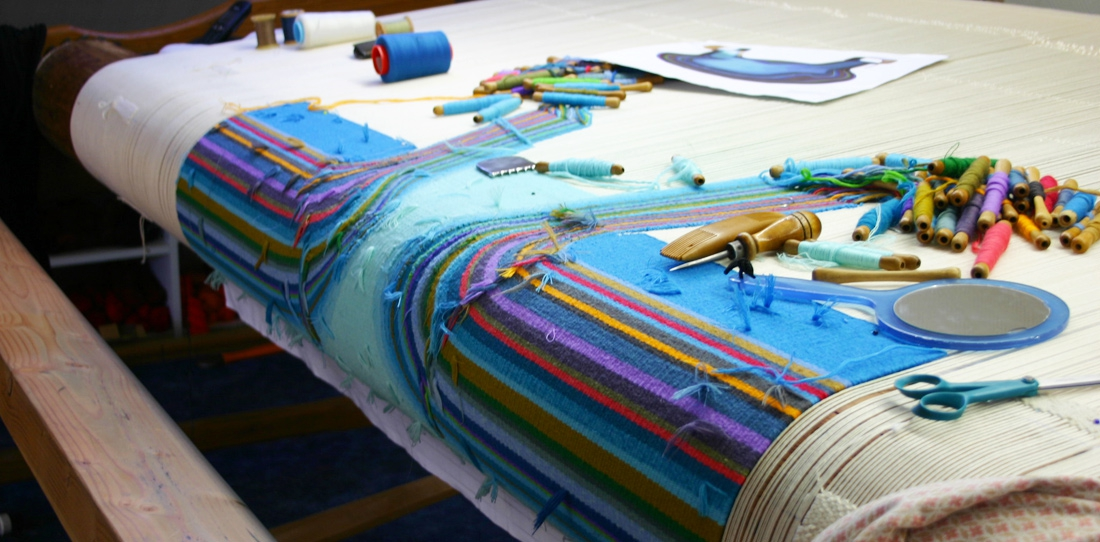 Confluentia, le tissage en cours à l'Atelier Françoise Vernaudon