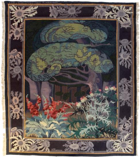 Verdure Solitude, François-Henri Faureau, woven by ENAD Aubusson's student R. Martinot, 1923