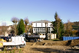 Vue générale du chantier de la Cité internationale de la tapisserie, novembre 2014