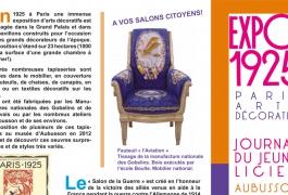Journal du jeune licier, Tapisseries 1925, 2012