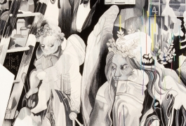 Melancholia (détail), d'après Marc Bauer, deuxième prix 2011, tissage atelier Patrick Guillot, 2013