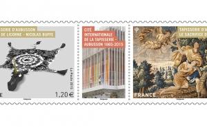 Un bloc de timbres dédié à la Cité de la tapisserie